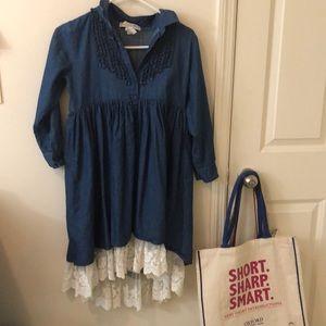 Vintage Denim lace dress